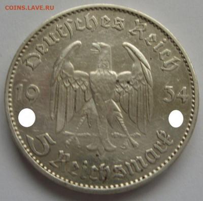 Германия, иностранщина (наборы, на вес, евро), царизм, СССР. - 5 марок Кирха с подписью 1934 J - 2-1-1