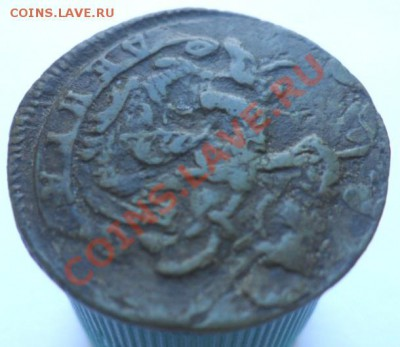 Деньга Екатерины 1774 года: КМ или ЕМ? - полушка 1774 Б.JPG