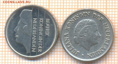 Нидерланды 25 центов 1950,1995 г., до 19.01.2021 г. 22.00 по - Нидерланды 25 центов 1950,1995 2576а