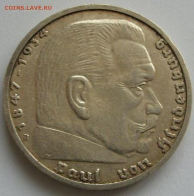 Германия, иностранщина (наборы, на вес, евро), царизм, СССР. - 5 марок Гинденбург 1939 B - 2