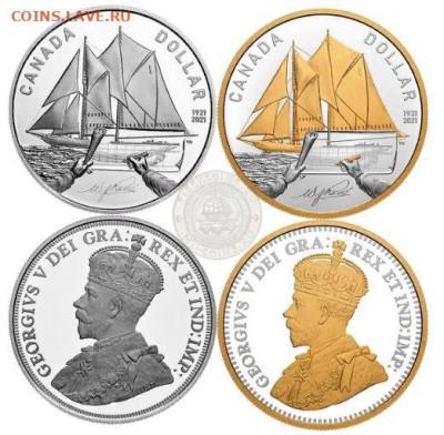Монеты с Корабликами - Канада 1 доллар 2021.JPG