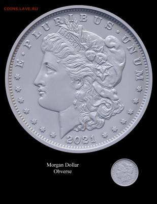 Монеты США. Вопросы и ответы - Morgan-Obverse-
