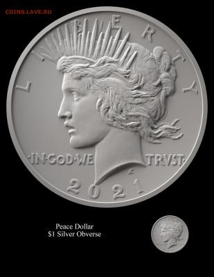 Монеты США. Вопросы и ответы - Peace-Obverse