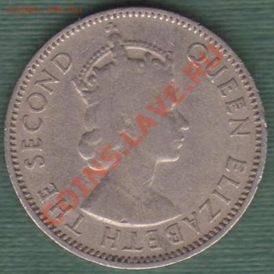 """Британская Восточная Африка, Пол Шиллинга 1954 """"Лев"""" (04.10) - 50 cent EA 001"""