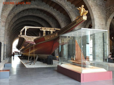 Монеты с Корабликами - Barcelona_Museu_Maritim_Galera_Real