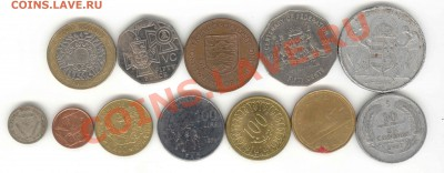 """6 лотов иностранных монет формата """"кот в мешке"""" - 5"""