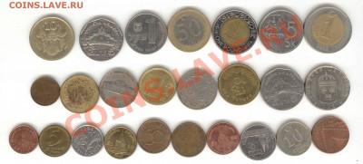 """6 лотов иностранных монет формата """"кот в мешке"""" - 1"""