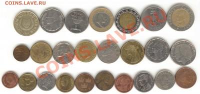 """6 лотов иностранных монет формата """"кот в мешке"""" - 1+"""