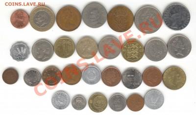 """6 лотов иностранных монет формата """"кот в мешке"""" - 2+"""