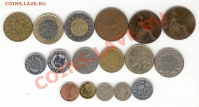 """6 лотов иностранных монет формата """"кот в мешке"""" - 3"""