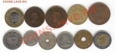 """6 лотов иностранных монет формата """"кот в мешке"""" - 4+"""