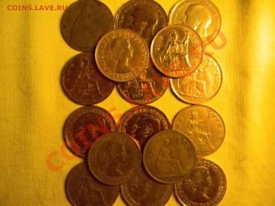 30 старинных монет Англии + 1200 почтовых марок ОДНИМ Лотом. - мини 4