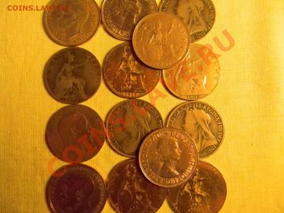 30 старинных монет Англии + 1200 почтовых марок ОДНИМ Лотом. - мини 3