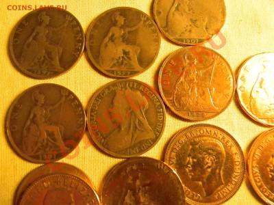 30 старинных монет Англии + 1200 почтовых марок ОДНИМ Лотом. - мини 2