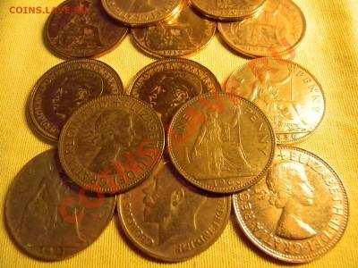 30 старинных монет Англии + 1200 почтовых марок ОДНИМ Лотом. - мини 1