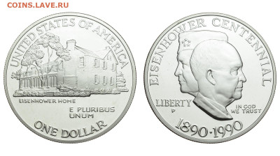 США. 1 доллар 1990 г. Proof. До 14.02.21. - Р674.JPG