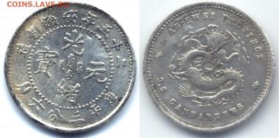 Китай. Общепознавательная тема. - 008 # 5 центов Китай Империя пров. Аньхуй 1899
