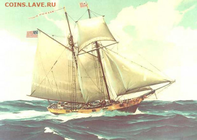 Монеты с Корабликами - USRC_Massachusetts_(1791)