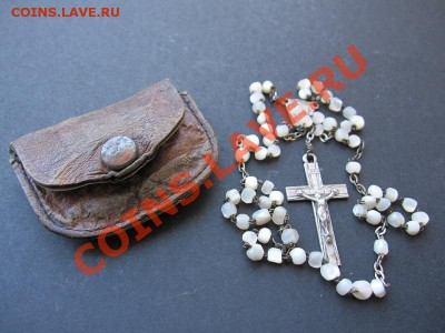 Чётки 19 нач 20 в перламутр,серебро,кожа до 10.10 в 21.00 МС - chetki