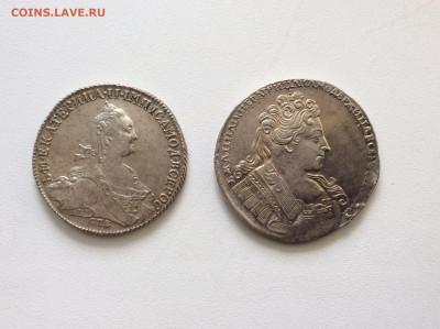 1 рубль 1732г Анна 1 рубль 1774г Екатерина II - B234BC81-02CD-431F-99C6-A1FF152E229F