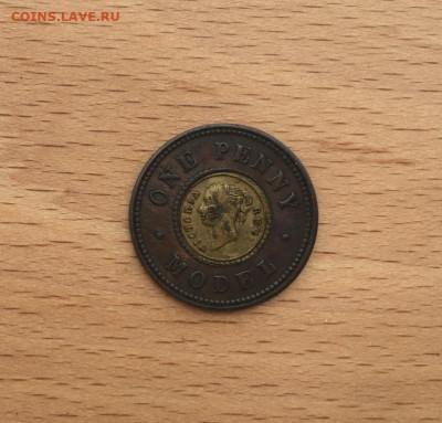 биметалл Великобритания Англия 1 модел пенни 1844 Model Penn - bimetall_velikobritanija_anglija_1_model_penni_1844_model_penny_zheltaja_vstavka (1)