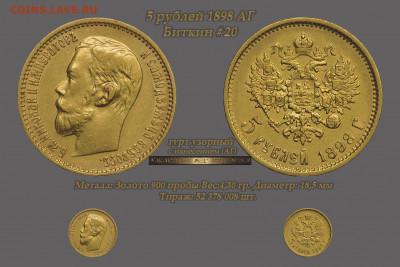 Коллекционные монеты форумчан (золото) - 5 рублей 1898 аг