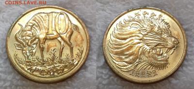 Монеты мира по фиксу - ЭФИОПИЯ 10 сантимов 1977 (не магнит) 20190626_0825