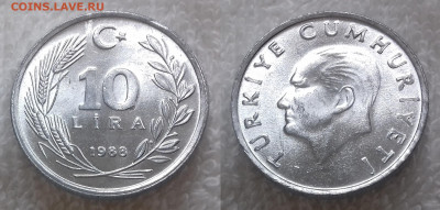 Монеты мира по фиксу - ТУРЦИЯ 10 лир 1988 20191113_1024
