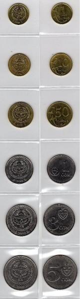 Монеты Кыргызтана - Монеты Кыргизии 2008