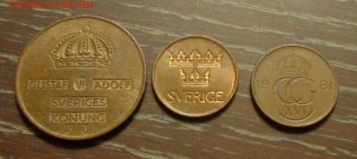 ШВЕЦИЯ - 5 эре три монеты разных лет до 11.06, 22.00 - Швеция 5 эре разные года 3 шт._2