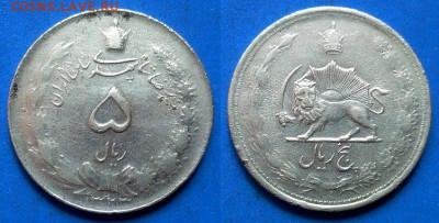 Иран - 5 риалов 1944 года (серебро) до 11.06 - Иран 5 риалов, 1323 (1944)