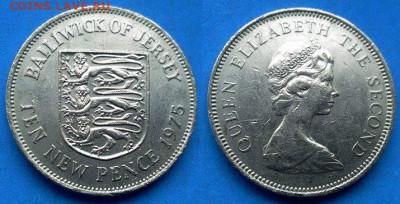Джерси - 10 новых пенсов 1975 года до 11.06 - Джерси 10 новых пенсов, 1975