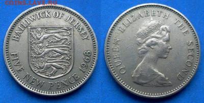 Джерси - 5 новых пенсов 1968 года до 11.06 - Джерси 5 новых пенсов, 1968