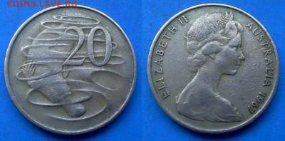 Австралия - 20 центов 1967 года (Фауна) до 22.07 - Австралия 20 центов, 1967