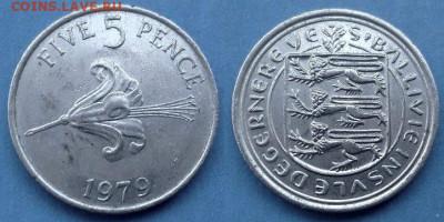 Гернси - 5 пенсов 1979 года до 22.07 - Гернси 5 пенсов, 1979
