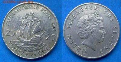 Восточные Карибы - 25 центов 2007 года до 22.07 - Восточные Карибы 25 центов, 2007