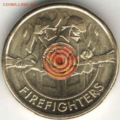 монеты с пожарной тематикой? - avstraliya-2-dollara-2020-avstraliiskie-pozharnye-fire-unc-photo-161b