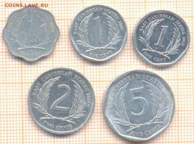 Восточные Карибы 5 монет, до 25.07.2021 г. 22.00 по Москве - Вост Карибы 5 монет 3125