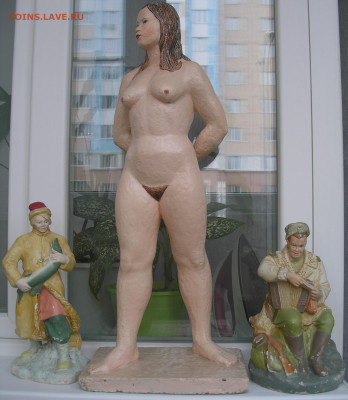 "Статуэтка ""Обнаженная женщина"" (гипс) - атрибутика - 1.JPG"