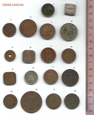 18 монет индийских княжеств. Возможно, аверс. - Индийские княжества    реверс0001