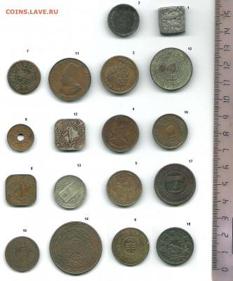 18 монет индийских княжеств. Возможно, реверс. - Индийские княжества  реверс0002