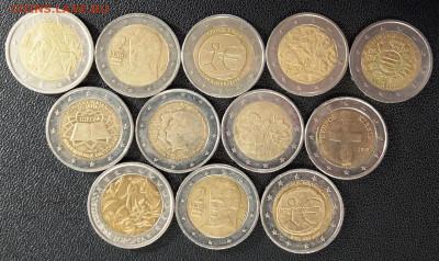 Подборка 2-евровиков (12 шт) с номинала, 25.09.21, 22.00 мск - 1632301646603