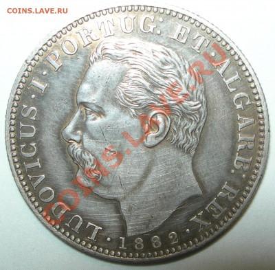 Португальские колониии. - Индия португальская 1 рупия 1882 портрет.JPG
