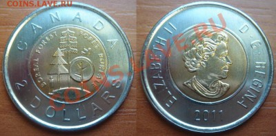 Канада: Новинка! 2 $ Лес биметалл UNC до 16.01.12 22-00 - 2 доллара Лес.JPG