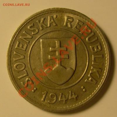 Словацкая Республика. - Словакия 1 крона 1944 герб.JPG