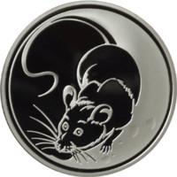 Крыса (год на аверсе «2008») реверс